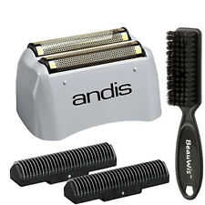 Andis 17155 Replacement Lithium Titanium Foil and Inner Cutter w Beauwis Brush