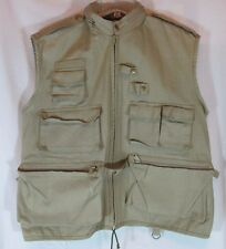 Paparazzi Wear Mens Khaki Photo Safari Hiking Outdoor Vest Size Large