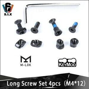 4 Set/Pack Tactical M LOK Key mod Long Screw Set Rail Panel Hand stop Screw Nut