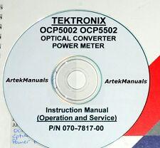 Tektronix Ops & Service Manaul for the Ocp5002 & Ocp5502 Optical Powermeter