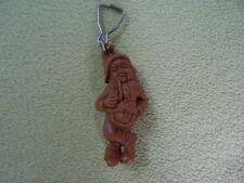brown dwarf Smoking a pipe keychain old plastic era