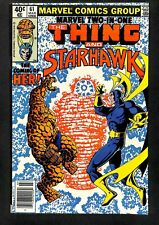 Marvel Two-In-One #61 VF- 7.5 1st HER! Starhawk! Comics