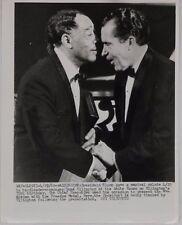 April 29,1969 Nixon & Duke Ellington Vintage Press Photograph