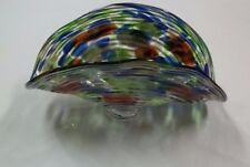 Dale Tiffany Hand Blown Glass Multi-Colored Newport Heights Art Collection Bowl