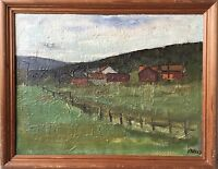 Pmh - Landscape in Scandinavia - Sweden Norway - Monogrammed 1967