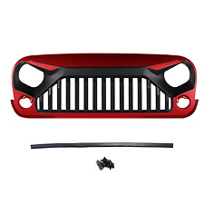 Front Update Angry Bird W7 Red Grille Grill Grid For 07-17 Jeep Wrangler JK