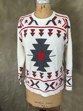 Viscose/Wool/CASHMERE Sweater BANJO & MATILDA TRIBAL GEOMETRIC Australia XS $333