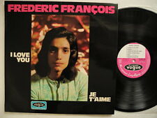 FREDERIC FRANCOIS I Love You Je T'Aime LP 1972 EX Vogue 021