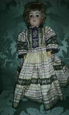 "German bisque doll DEP 8 20 "" tall- Full outfit"