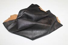 Italian Goatskin leather hide ROUGH DARK BROWN DISTRESSED VINTAGE 5sqf #A2495