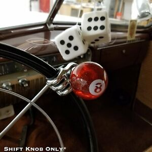 Translucent Red 8 Ball Billiard Suicide Brody Steering Wheel Knob Metal Flake V8