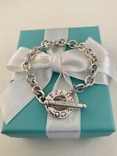 "Tiffany & Co Sterling Silver Toggle Link Bracelet 7.5"" Retired"