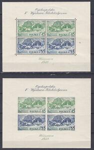 1938 Block 5 A+B Nationale Briefmarkenausstellung Warschau Postfrisch ** MNH