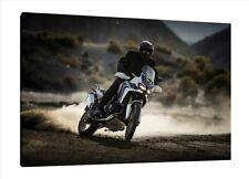 2017 Honda Africa Twin CRF1000L - 30x20 Inch Canvas Framed Picture Dakar