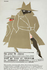 Original Vintage Poster Richez Theater French Punk et Punk Spy vs Spy Trench Art