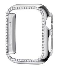 Genuine Rhinestone iWatch Case In Chrome Silver For 40mm