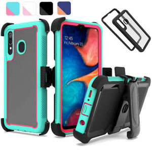 For Samsung Galaxy A20 A30 A50 Shockproof Rugged Case Armor Clip Holster Cover