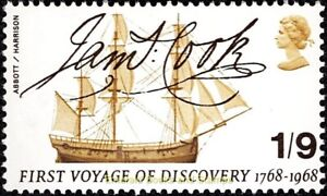 EBS Great Britain 1968 - James Cook - SG 770 MNH**