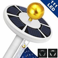 New listing Solar Powered Flag Pole Light 111 Led Usa Night Super Bright Flagpole Waterproof