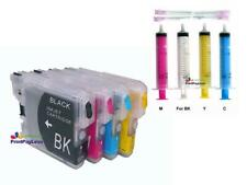 Refillable Ink Cartridges for Brother LC61, MFC-6690CW, MFC-6890CW, MFC-J125