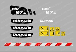 DOOSAN DX27Z DIGGER DECAL STICKER SET
