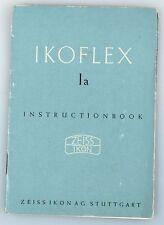 Ikoflex 1A Instruction Book, Zeiss Ikon