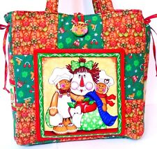 CHRISTMAS GINGERBREAD MAN ~ Handmade Tote bag ~ 100% Cotton Prewashed Fabric #C
