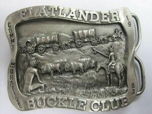 Pewter Bergamot Horse Belt Buckle 1983