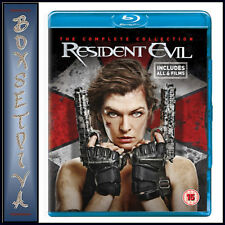 RESIDENT EVIL - THE COMPLETE COLLECTION - ALL 6 FILMS  **BRAND NEW BLU-RAY***