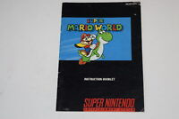 Super Mario World Super Nintendo SNES Video Game Manual Only