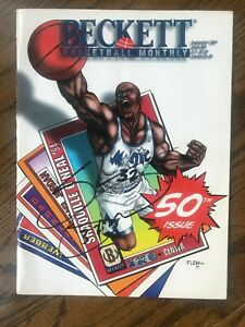 SHAQUILLE O'NEAL Signed Autographed  September 1994 BECKETT BASKETBALL MONTHLY