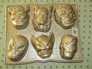 Nordic Ware Marvel Comics Super Heros Bundtlette Mold Cake Pan