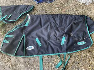 Stable rug hkm kansas 300g 6/'0 6/'9 black heavyweight quilt