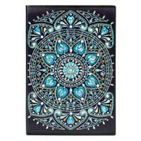 DIY Mandala Special Shaped Diamond Painting 60 Pages Students A5 Notebook #ORP