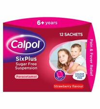 CALPOL SIX PLUS SUGAR FREE SUSPENSION - 12 SACHETS
