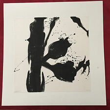 """Original Signed Black Ink Paintings on Fiber Paper 17""""x17"""" Mounted on Boards"""