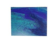 """16""""x20"""" #8 Abstract Acrylic Art On Stretched Canvas W/Finished Edges Paint Pour"""