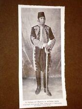 Il Sultano del Marocco nel 1906 In Uniforme di Turchia