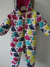 Hatley baby girl padded snowsuit skisuit 6-12 months excellent condition
