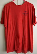 Men's BACARDI BLACK RAZZ Fruity Rum Large Red Logo Promo T-Shirt Bar Tee