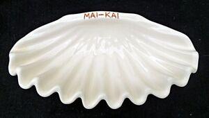 """RARE VINTAGE MAI-KAI TIKI SEASHELL POTTERY BOWL 11½"""""""