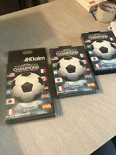 NEUF NEW lot 3 champions world class soccer SEGA megadrive MD blister rigide