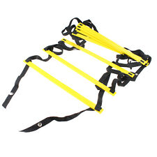 Durable 8 rung Agility Ladder Speed Soccer Football Fitness Feet Training Yellow