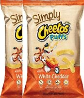 Cheetos Puffs Cheese Snacks, Simply White Cheddar Puffs 8 Ounce (pack of 2)