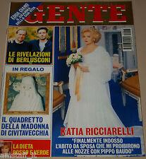GENTE=1995/17=KATIA RICCIARELLI=BERLUSCONI=CUCCARINI=CARLUCCI=CLAUDIA SCHIFFER=