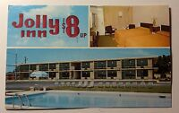 JOLLY INN MOTEL $8 & UP VALDOSTA GEORGIA POSTCARD 1950s #1012