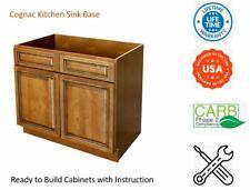 Cognac Kitchen Sink Base Cabinet