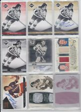 44 Card Brad Park Lot Limited Auto ITG Jersey Dominion Printing Plate Blank Back