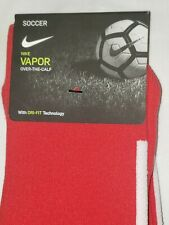 Nike Vapor Performance Soccer Socks Size L Over the Calf SX5732-658 Red/White