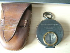 Vintage Military Night Marching Compass by Walter Bushnell of Calcutta in Case.